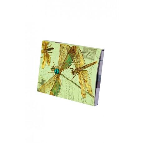 Bloc de notas estampado floral-retro