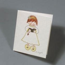 Lote de 100 tarjetas niña cantando