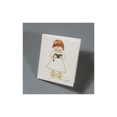 Lote de 100 tarjetas niña comunion