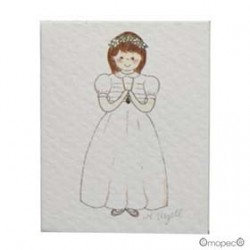 Lote de 100 tarjetas niña rezando