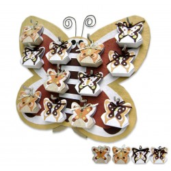 Expositor Mariposa Otoño + 12 cajitas mariposa