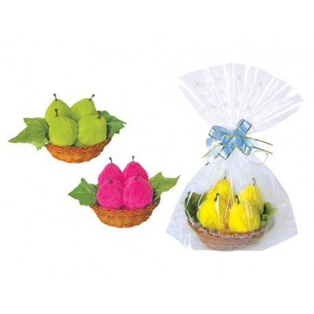 Dulce Peras en cestita y bolsita de regalo