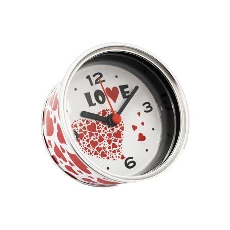 """Reloj de Aluminio """"LOVE"""" presentado en lata regalo"""