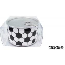 "Reloj de Aluminio ""FOOTBALL"" presentado en lata regalo"