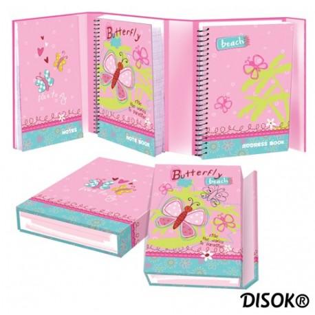 """Bloc de notas, libreta y direcciones """"Butterfly"""""""